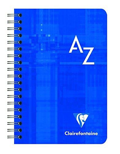 Clairefontaine Quaderno a Quadretti con Indice Alfabetico, Rilegato con Spirale, Confezione da 2, 9.5 x 14 cm, Colori Assortiti