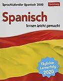 Sprachkalender Spanisch Sprachkalender. Tischkalender 2020. Tageskalendarium. Blockkalender. Format 12,5 x 16 cm