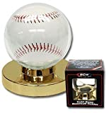 Steve's Collectibles Baseball Holder Display Case with Gold Base - 6 Pack