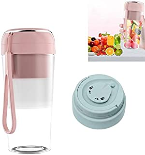 Electric Small Juicer Portable USB Home Mini Juice Cup, Style: With Vacuum Lid High Quality (Color : Pink)