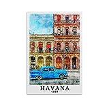 Poster mit Weltreise-Motiv, Havanna, Kuba, Leinwand-Kunst,