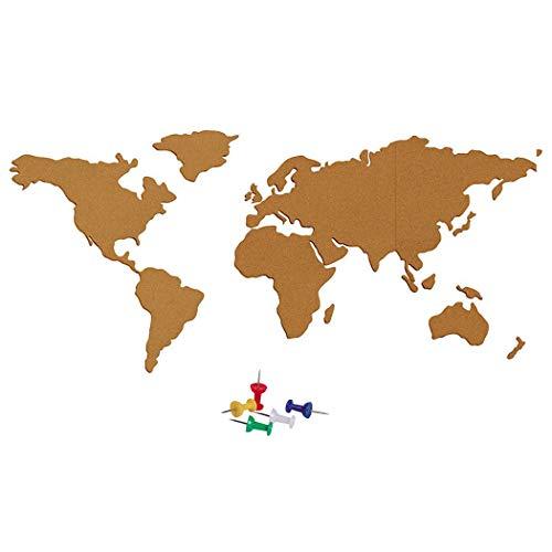 Outgeek Conjunto De Tablero De Corcho Cork Board Mapa del Mundo Tablón De Anuncios Autoadhesivo Vinilo Decorativo para Colegios