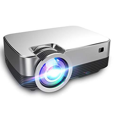 Proyector Portátil Android 8.0 Os Video Mini Proyector Q6 1280 * 720P Resolución Nativa con WiFi Bluetooth Cine En Casa Película Q6