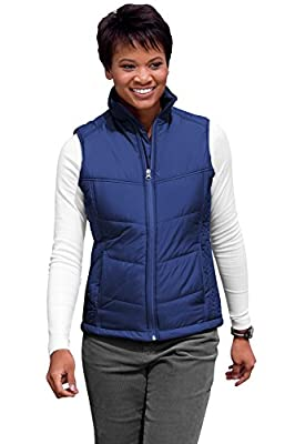 Port Authority Ladies Puffy Vest>3XL Mediterranean Blue/Black L709 from Port Authority