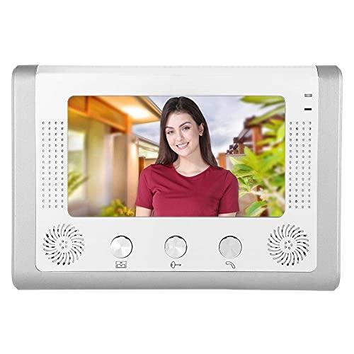 """BJH Timbre con Cable TFT-LCD de 7"""", Kit de Timbre de videoportero con + interfono Manos Libres + 12 Sonidos de acordes"""