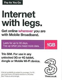 Threeデータ通信プリペイドSIMカード 1GB30日間 UK [並行輸入品]
