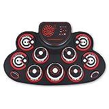 JIACUO lectronic Drum Set - Práctica Drum Pad Roll Up Potable Drum Kit con Conector para Auriculares Altavoz Incorporado Baquetas, Gran Regalo de cumpleaños para niños y Adultos