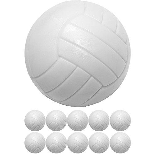 Maxstore 10 Kicker Bälle aus ABS, weiß, hart, schnell, Durchmesser 36mm, Tischfussball Kicker-Ball Zubehör