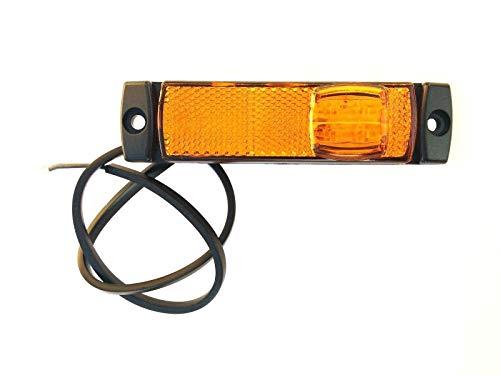 Gelb LED Begrenzungsleuchte 12V 24V Umrissleuchte Anhänger LKW 130x32x14,5 UNIV