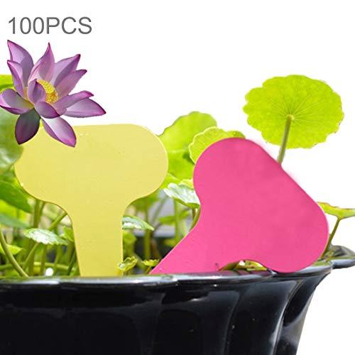 Lanbinxiang@ Petite carte imperméable florale de label de jardin, étiquette de pot d'insertion d'étiquette, taille: 6.8 * 4.8 * 0.2cm jardinage