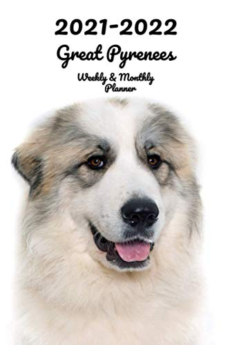 2021-2022 Great Pyrenees Weekly & Monthly Planner: 2-Year Pocket Calendar | 26 Months | 152 pages 6x9 in. | Diary | Organizer | Agenda | Appointment | For Dog Lovers