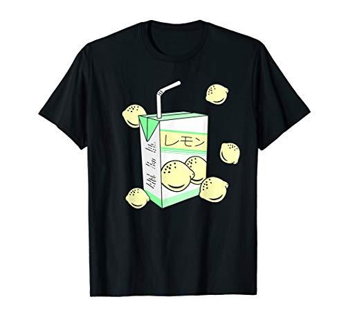 Japanese Lemon Juice Box 90s Aesthetic Pastel Otaku Anime T-Shirt