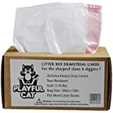Cat Litter Box Liners Jumbo 20 Count, Drawstring Large Litter Box Liners, Cat Waste Liners Unscented, Extra large, Heavy Duty and Thick, Tear Resistant, Quick & Easy Cleanup.
