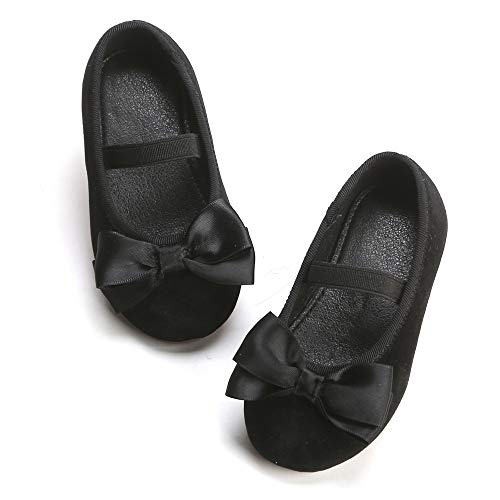Felix & Flora Bear Mall Girls' Shoes Girl's Ballerina Flat Shoes Mary Jane Dress Shoes (Little/Toddler Girls Shoes/Big Kids)£¨10 Toddler, Black