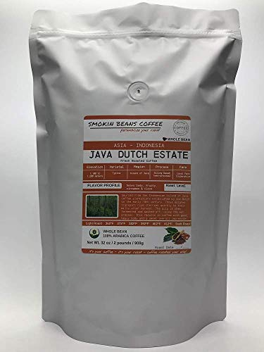 Asia/Indonesia, Java Dutch Estate (2-Pound Bag) Premium Arabica Coffee Freshly Custom Roasted Today (Espresso Roast/Whole Bean) Customized Roast Or Grind Is Available By Messaging Us At Time Checkout