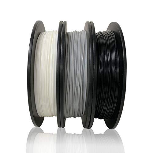 Dikale PLA 3D-Drucker-Filament (3 verschiedene Farben, 500 g pro Spule, 3 Spulen), 1,75 mm, Maßgenauigkeit +/- 0,02 mm (Geeignet für Ender 3 3D-Drucker usw.)