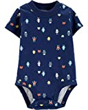 Carters.. Collectible Bodysuits for Baby Boys | Various Styles and Sizes (Blue Robot, 6M)