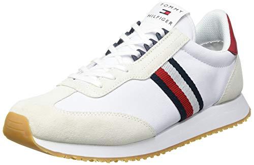Tommy Hilfiger Runner LO 2C, Zapatillas para Hombre, Blanco, 44 EU
