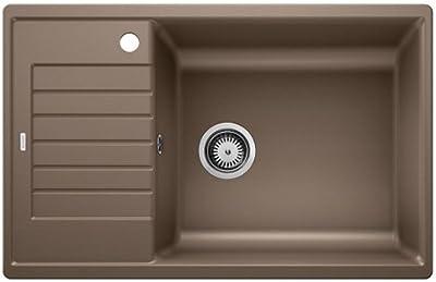 Charcoal Grey Grey Blanco Sona 6/S Silgranit PuraDur Reversible Inset Kitchen Sink /& 519677