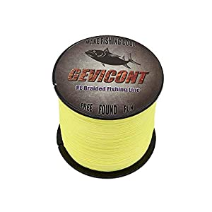 GEVICONT Superbraid Fishing Lines Cast Farther Stealth Superline Pe 4-Strand 328Yds-1094Yds 10lb to 100lb Multiple Colors for deep sea Fishing