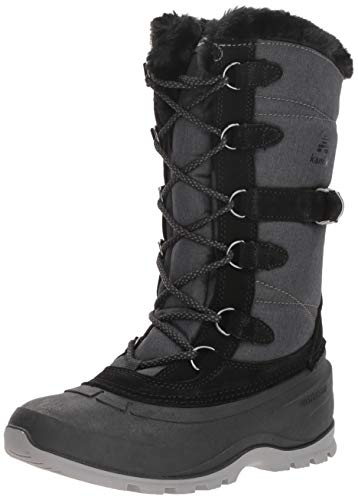 Kamik Women's SNOVALLEY2 Snow Boot, Black, 9 Medium US