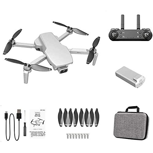 JJDSN L108 GPS Drone 4K Doppia Fotocamera 5G WiFi Motore Brushless Pieghevole Quadcopter RC Giocattolo per Adulti, Principianti, Bianco, 1 Batteria