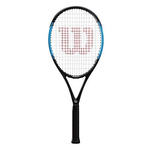 Wilson Ultra Power 105, WR018110U3 Racchetta da Tennis, Tennisti di Livello Intermedio, Fibra di Vetro e Alluminio, Nero/Blu, Manico 3