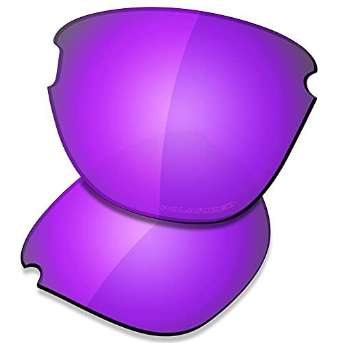 Saucer Lentes de repuesto premium para gafas de sol Oakley Frogskins Lite OO9374, High Defense - Polarizado morado violeta, Talla única