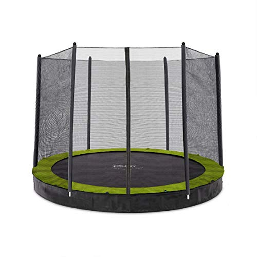 Plum Unisex's 27559 12ft Circular In Ground Trampoline with Enclosure, Black/Yellow, 12 foot