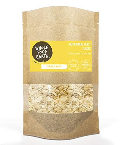 Wholefood Earth: Nutritional Yeast Flakes 125g | With B12 | Dairy Free | GMO Free
