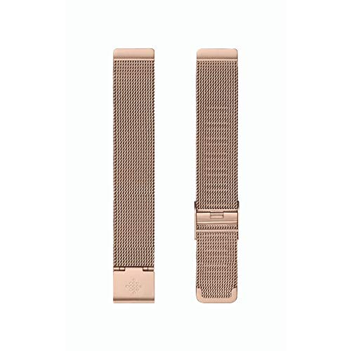 Fitbit Inspire 2 Mesh Watch Strap, Rose Gold Stainless Steel