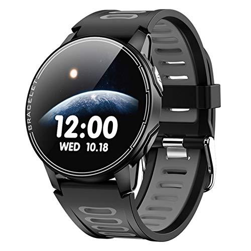 ZYY Nuevo Reloj Inteligente De L6 Y Mujeres, IP68 Deportes Impermeables Bluetooth Smartwatch Fitness Tracker Monitor De Frecuencia Cardíaca para Android iOS,A
