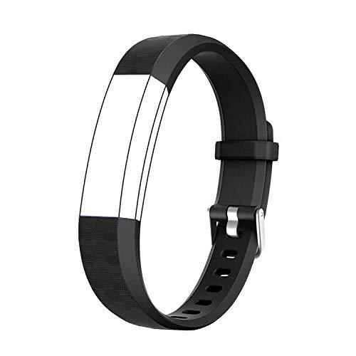 BIGGERFIVE Ersatzarmband Einstellbar Uhrenarmband Ersatz Armband, Kompatibel zum ID115U Fitness Armband (Schwarz)