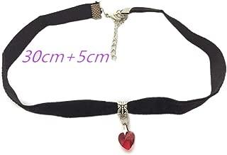 Gothic Velvet Heart Crystal Choker Handmade Necklace Pendant Retro One Direction