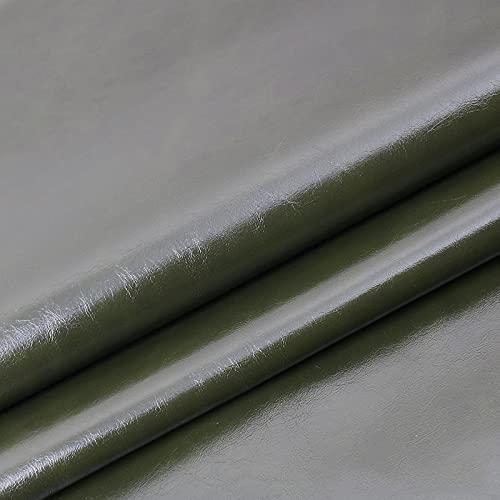 ZSYGFS Tela De Cuero Sintético De Polipiel 160 Cm De Ancho Vendido por Metro para Muebles Sofás Sillas Manualidades(Color:Verde Oscuro)