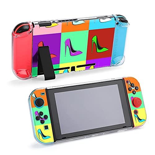 Funda protectora para Nintendo Switch, estilo pop-art tacones altos, funda duradera para...