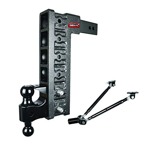 Drop Hitch 2.5  Receiver Class V 21K Towing Hitch GH-626, Combo Includes Dual Hitch Ball, Pintle Lock, Stabilizer Kit & 2 Hitch Pins (15  Drop 2.5 )