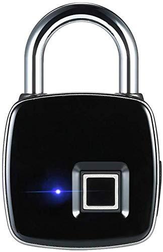 LBWLB Fingerabdruck Vorhängeschloss Smart USB Keyless Schlüsselbox IP65 Wasserdichte Diebstahlsicherung Türschloss Koffer Gepäckschlossfür Zuhause, Büros und Garagen,Schlüsseltresor