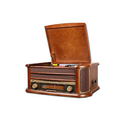 Grammofono, Giradischi in Vinile Altoparlanti Stereo 33/45/78 RPM Supporto Porta USB Riproduzione Bluetooth Riproduzione CD Uscita Audio (Colore: Marrone, Dimensione: Desktop)