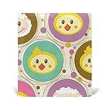 Rétro Cartoon Animal Singe Mouton Lapin Couverture rigide en cuir PU pour livre d'école 22,9 x 27,9 cm pour filles et garçons