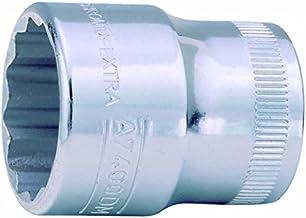Bahco A7400DM-9 PAA7400DM-9 tunnväggig 3/8-tums Bi-Hex standardlängd uttag, silver, 9 mm