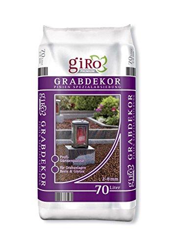 70 Liter Premium Grabdekor Pinienrinde Mulch Rindenmulch Dekorrinde Bodengrund 2-8 mm