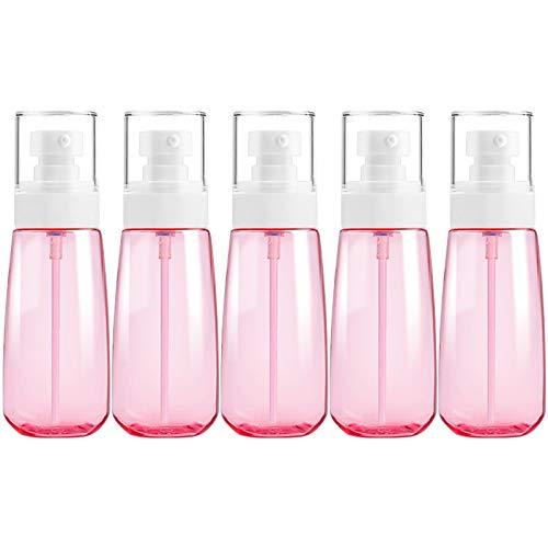PAN-FR Bouteilles cosmétiques, 5 PCS Bouteilles en Plastique de Voyage, 100ml Bouteilles de Rechange (Couleur : Rose)