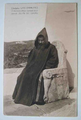 Postal Antigua - Old Post Card : Córdoba - LAS ERMITAS - El Hermano Mayor sentado en el llamado Sillón del Obispo
