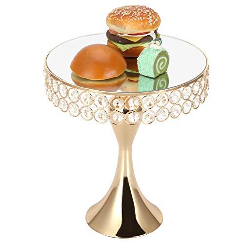 Soporte para pasteles, bandeja para pasteles con diseño de superficie de espejo fuerte, hermoso artículo para regalo de banquete(large)