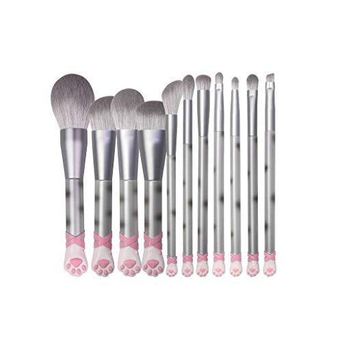 GCX- 11 pièces de Maquillage de Brosse for Les débutants étudiants Doux Set de beauté Brosse Professionnelle Ensemble Complet de Brosses Beau