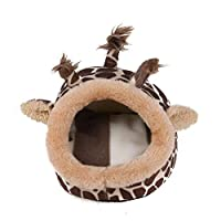 ペットベッド ハムスターミニアニマルマウスラット巣ベッドハムスターハウス小ペット製品 (Farbe : Brown, Size : S)