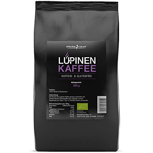 effective nature Lupinenkaffee – Der ideale Kaffeeersatz, Koffeein- und Glutenfrei, Aus kontrolliert biologischem Anbau, In Deutschland hergestellt, Vollmundiger aromatischer Geschmack, 500g