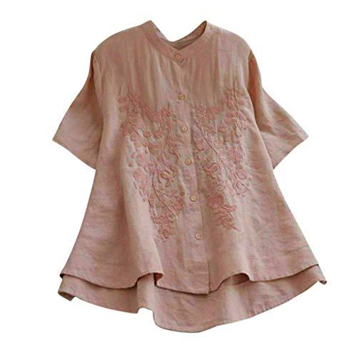 Darringls Magliette Manica Corta Donna Estate Camicia Elegante T-Shirt Tumblr Maglie Donna Taglie Forti Maglietta Ragazza 2019 Camicia Lino e Cotone Bluse Moda Camicie Camicetta