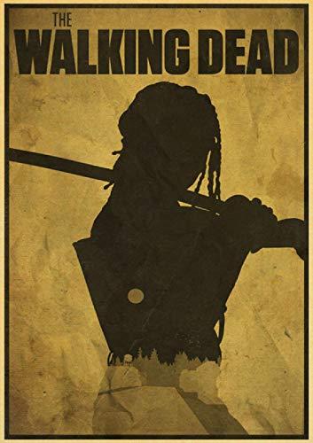 Rompecabezas para adultos y niños, 1000 piezas, vinilo kraft película Walking Dead Meat Home T10 29.5 x 19.6 pulgadas (75 x 50 cm) educativo intelectual descomprimido juguete rompecabezas sin marco